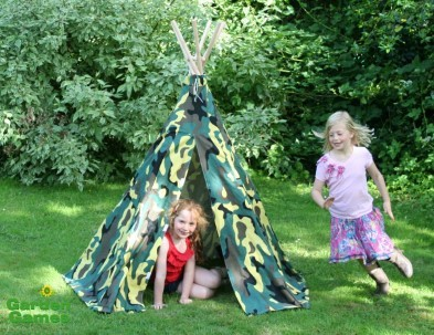 camouflage wigwam tepee by garden games with kids