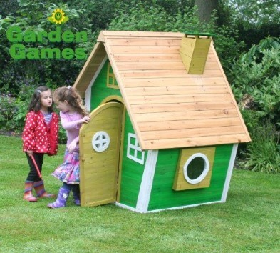 whacky ranch wooden playhouse by garden games with children playing