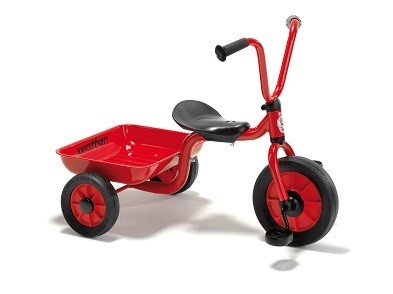 mini viking red trike and trailer