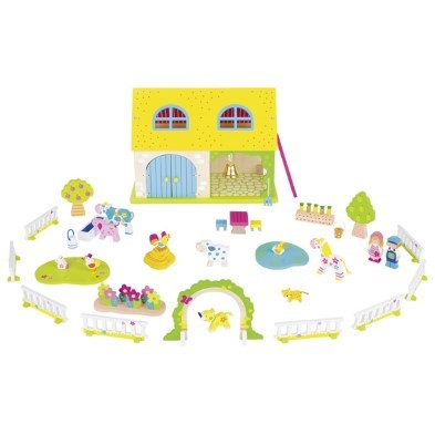 susibelle my farm wooden playset by goki
