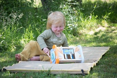 jungle activity box by classic world with boy