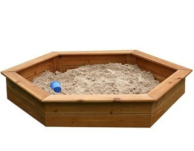 wooden hexagonal sandbox by garden games 6402