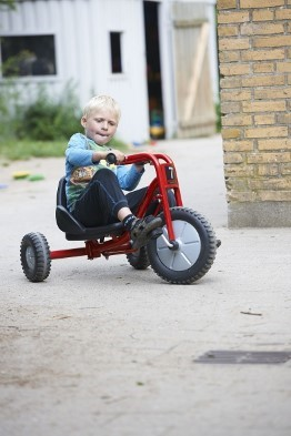 Boy with Toy Trike