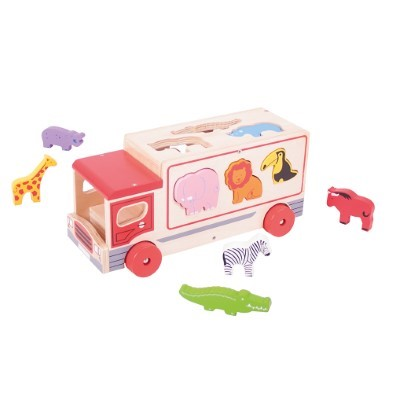 animal shape sorting lorry
