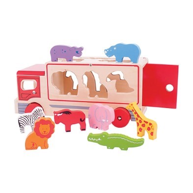 shape sorting lorry