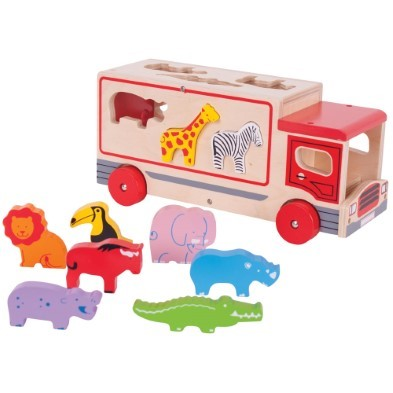 Wooden Shape Sorting LOrry by Bigjigs BJ641