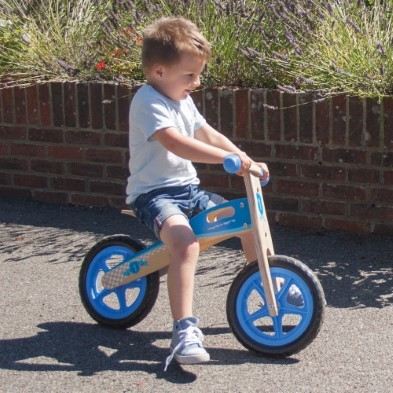 blue toy bike