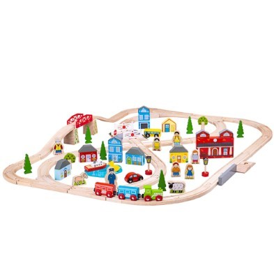 Wooden Toy Road Farm Set