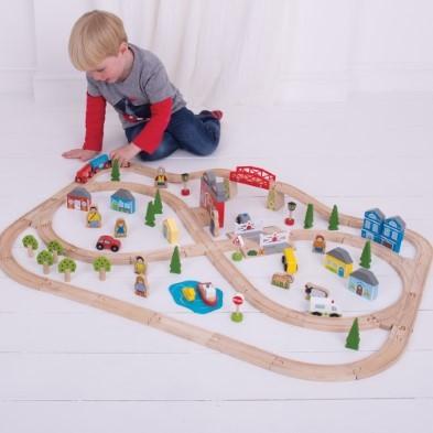 Wooden Toy Road Farm Set
