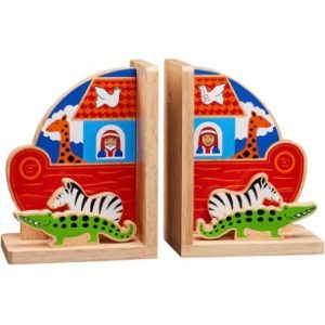 Noah's Ark Wooden Bookends