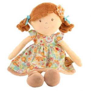 rag doll flower girl orange by Bonikka