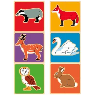 countryside animals wooden block puzzle lanka kade