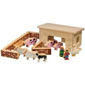 lanka kade pig and sheep barn with 18 colourful pieces