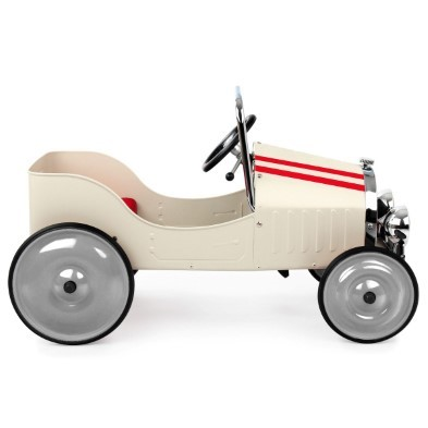 baghera pedal car classic white 1941 side