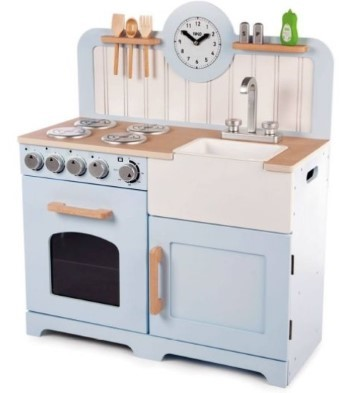 Country play kitchen blue tidlo t-0219