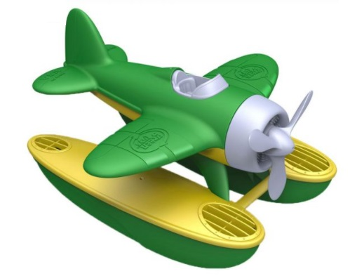 Bigjigs seaplane green wings