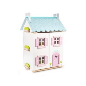 Le Toy Van Blue Bird Cottage Wooden Dolls House