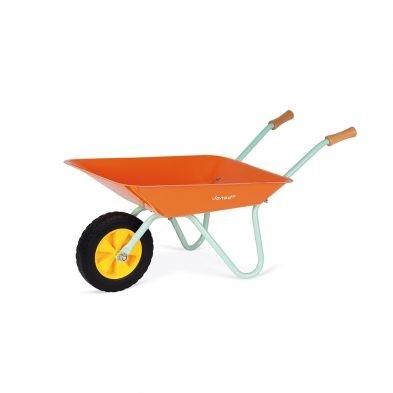 childrens janod metal garden wheelbarrow