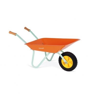 childrens janod metal wheelbarrow