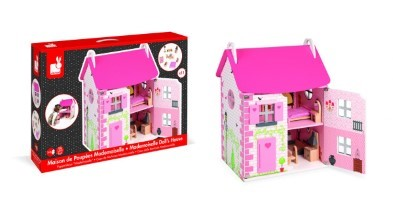 pink kids doll house
