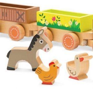 Janod Story Barnyard Baby Train