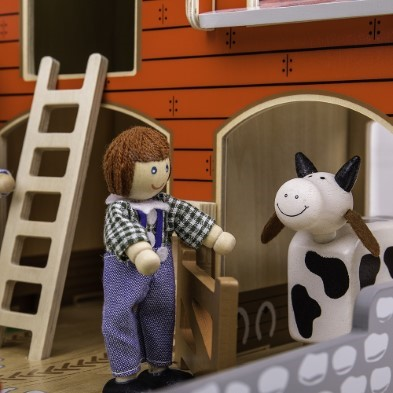 Wooden Toy Farm Cow
