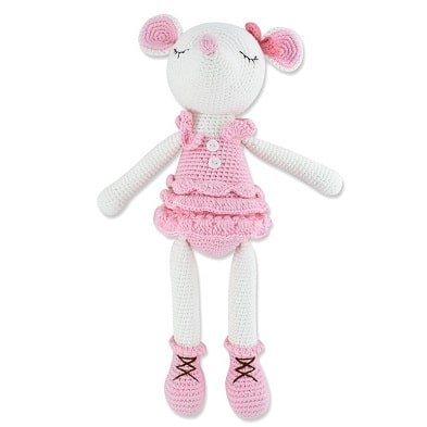 banbe crochet toy mouse ballerina by imajo