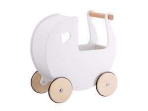 moover wooden dolls pram white
