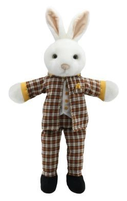 Dressed Mr Rabbit Hand Puppet