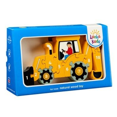 yellow digger puzzle lanka kade wooden jigsaw