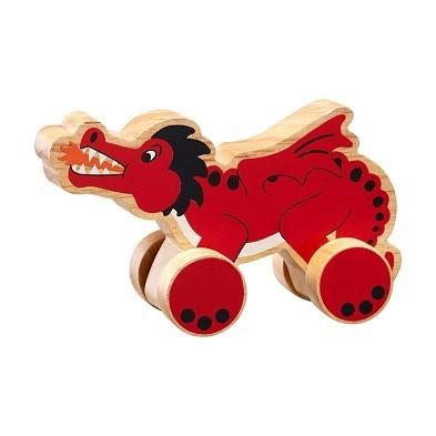 push along dragon by lanka kade wooden toy