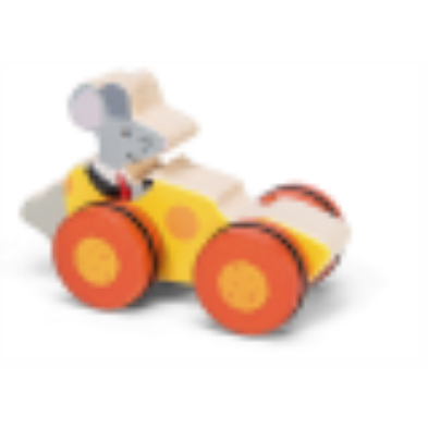woodland racer mouse driving a cheese slice