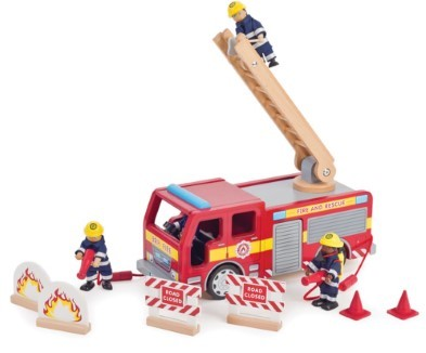 Tidlo Wooden Fire Engine
