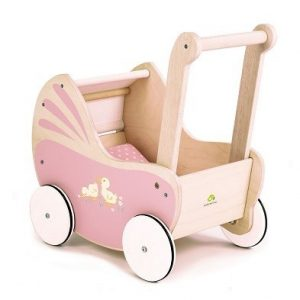 wooden toy pram tender leaf toys
