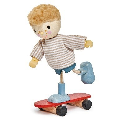 edward and his skateboard wooden doll tender leaf toys