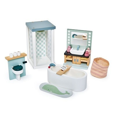 tender leaf toys dovetail house bathroom set
