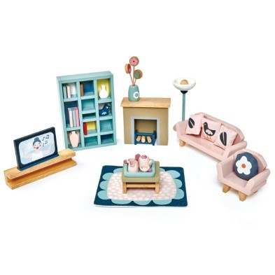 Dovetail living room doll house furniture set