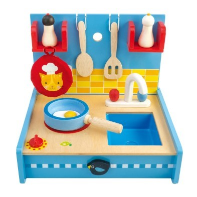 pop up kitchen with toy accessories
