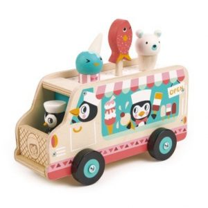 Penguin's Gelato Van wooden toy
