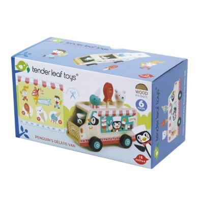 tender leaf toys wooden bus