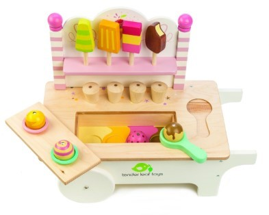 ice cream cart wooden toy