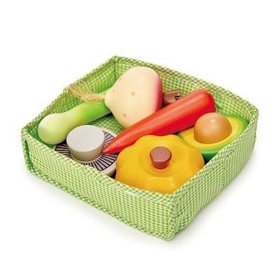 vegetable toys tender leaf toys veggie crate tl8279