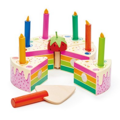 Excellent Rainbow Birthday Cake By Tender Leaf Toys The Toy Centre Funny Birthday Cards Online Elaedamsfinfo