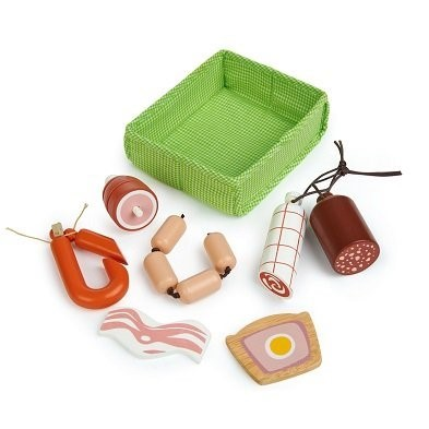 tender leaf toys charcuterie crate toy meat tl8284