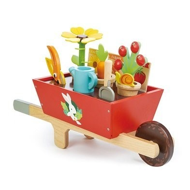tender leaf toys garden toy wheelbarrow set tl8357