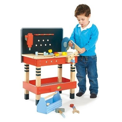 tender leaf toys tool bench with boy