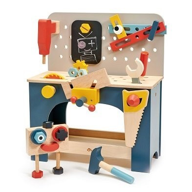 wooden play tool bench by tender leaf toys TL8562