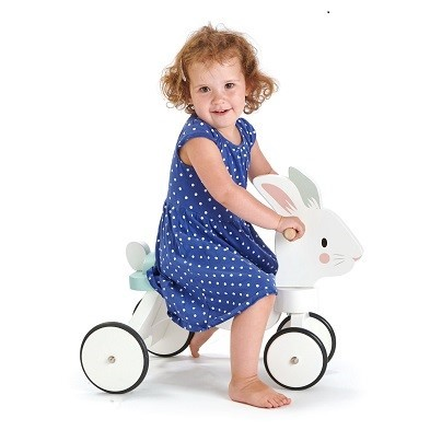 kid on rabbit bike