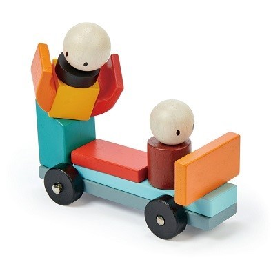 kids play colourful block cart