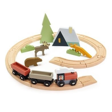 wooden treetops train set by Tender Leaf Toys